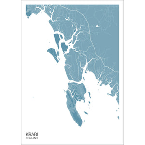 Map of Krabi, Thailand