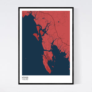 Krabi Region Map Print