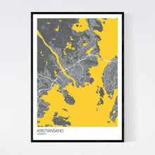 Load image into Gallery viewer, Kristiansand City Map Print