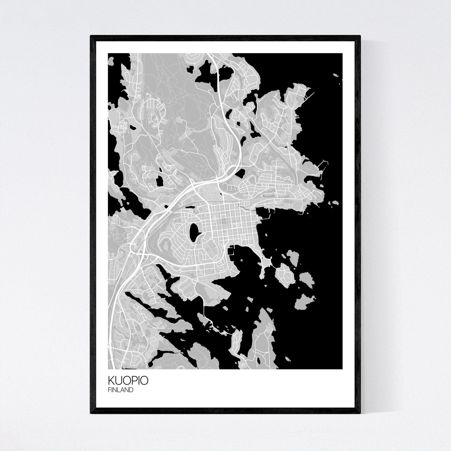 Kuopio City Map Print