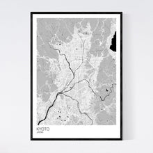 Load image into Gallery viewer, Kyoto City Map Print