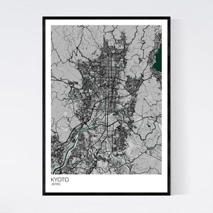 Kyoto City Map Print