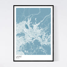 Load image into Gallery viewer, La Paz City Map Print