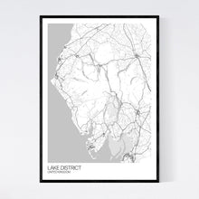 Load image into Gallery viewer, Lake District Region Map Print