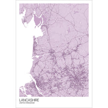 Load image into Gallery viewer, Map of Lancashire, United Kingdom
