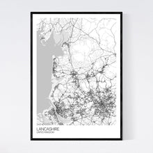 Load image into Gallery viewer, Lancashire Region Map Print