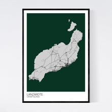 Load image into Gallery viewer, Lanzarote Island Map Print