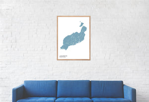 Map of Lanzarote, Canary Islands