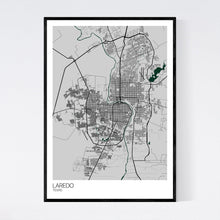 Load image into Gallery viewer, Laredo City Map Print