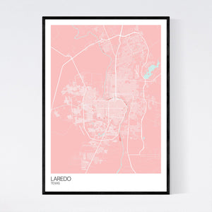 Laredo City Map Print