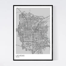 Load image into Gallery viewer, Las Vegas City Map Print