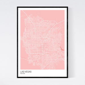 Las Vegas City Map Print
