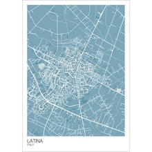 Load image into Gallery viewer, Map of Latina, Italy
