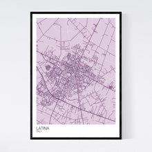 Load image into Gallery viewer, Latina City Map Print