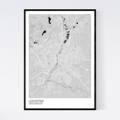 Map of Leicester, United Kingdom