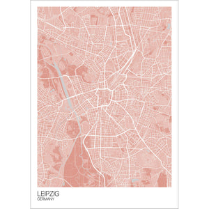 Map of Leipzig, Germany