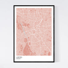 Load image into Gallery viewer, Map of Leipzig, Germany
