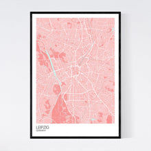 Load image into Gallery viewer, Leipzig City Map Print