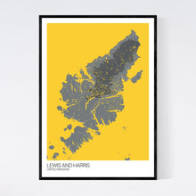 Load image into Gallery viewer, Lewis and Harris Island Map Print