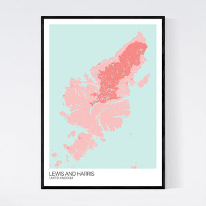 Lewis and Harris Island Map Print
