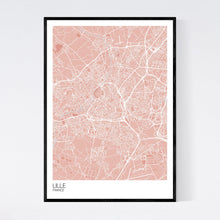 Load image into Gallery viewer, Lille City Map Print