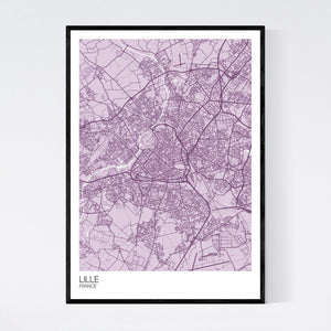 Lille City Map Print