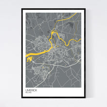 Load image into Gallery viewer, Limerick City Map Print
