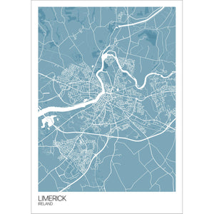 Map of Limerick, Ireland