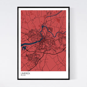 Limerick City Map Print