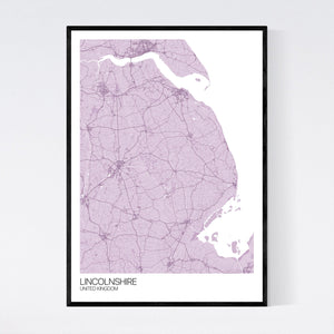 Lincolnshire Region Map Print