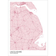 Load image into Gallery viewer, Map of Lincolnshire, United Kingdom