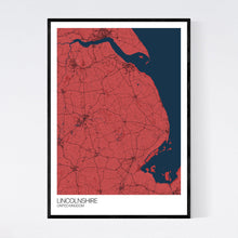 Load image into Gallery viewer, Lincolnshire Region Map Print