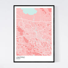 Load image into Gallery viewer, Linköping City Map Print