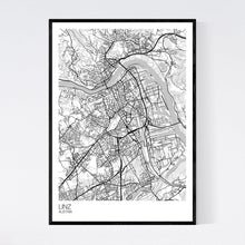 Load image into Gallery viewer, Linz City Map Print