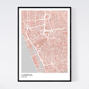 Liverpool City Centre City Map Print