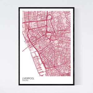 Map of Liverpool City Centre, England