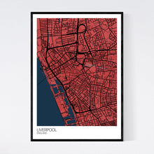 Load image into Gallery viewer, Liverpool City Centre City Map Print