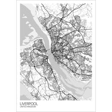 Load image into Gallery viewer, Map of Liverpool, United Kingdom