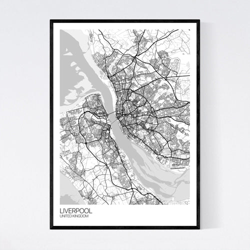 Map of Liverpool, United Kingdom