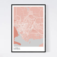 Load image into Gallery viewer, Llanelli City Map Print