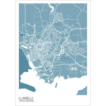 Load image into Gallery viewer, Map of Llanelli, United Kingdom