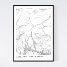 Load image into Gallery viewer, Loch Lomond & The Trossachs Region Map Print