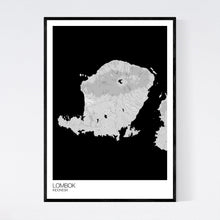 Load image into Gallery viewer, Lombok Island Map Print