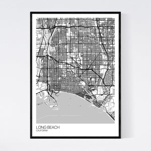 Long Beach City Map Print
