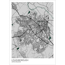 Load image into Gallery viewer, Map of Loughborough, United Kingdom