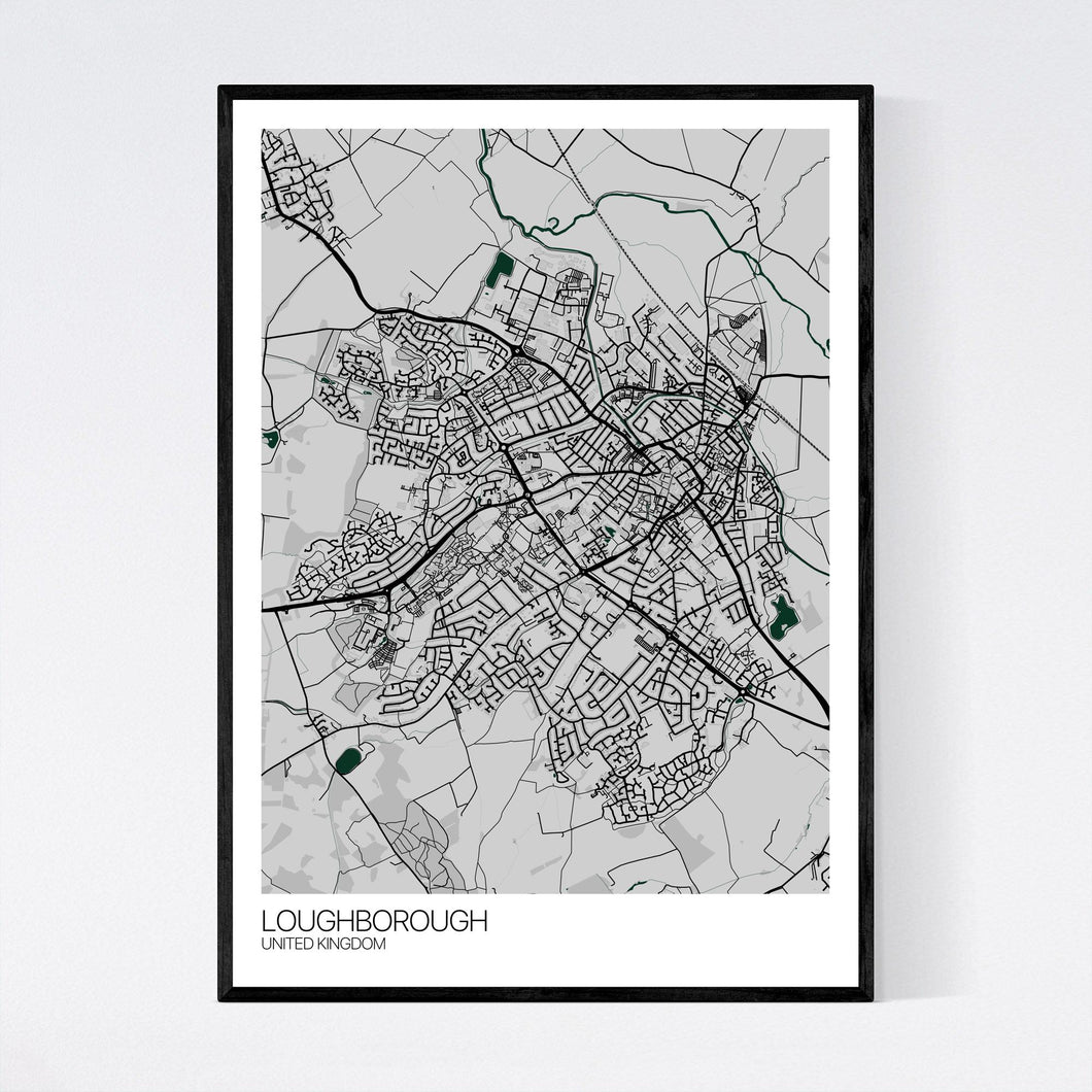 Map of Loughborough, United Kingdom