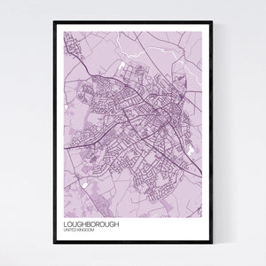 Loughborough City Map Print