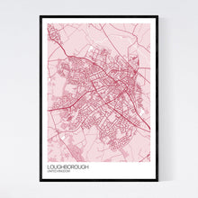 Load image into Gallery viewer, Loughborough City Map Print