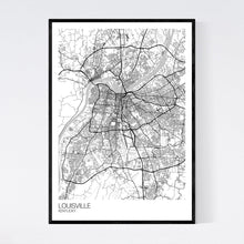 Load image into Gallery viewer, Louisville City Map Print