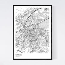 Load image into Gallery viewer, Lübeck City Map Print
